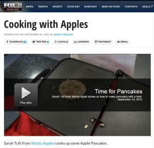 Wacky Apple on Fox 31 Cooking with Apples Applesauce Pancakes