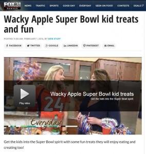 Wacky Apple on Fox 31 Denver Broncos Super Bowl Video Picture