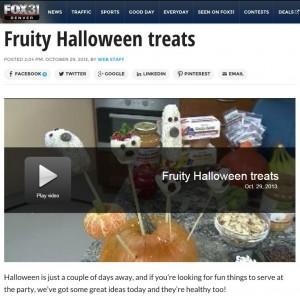 Wacky Apple on Fox 31 Fun Fruity Healthy Halloween Treats
