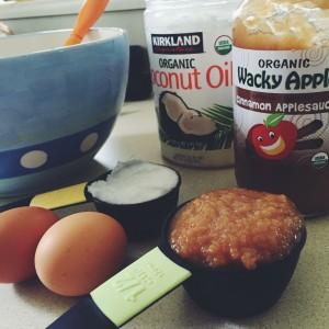 Oil, egg, applesauce